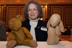 Holocaust survivor Eva Von Ancken donating toys given to her during the war.  http://neveragain.ushmm.org/news/entry/parting-with-precious-objects