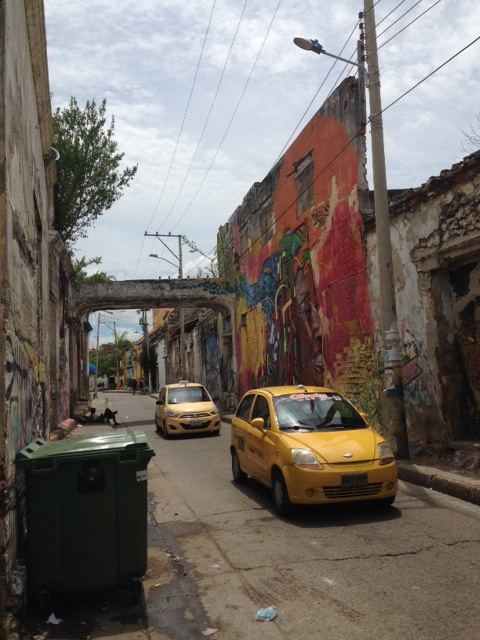 This street is remarkable for it's graffiti - I walked through it often on the way to class.