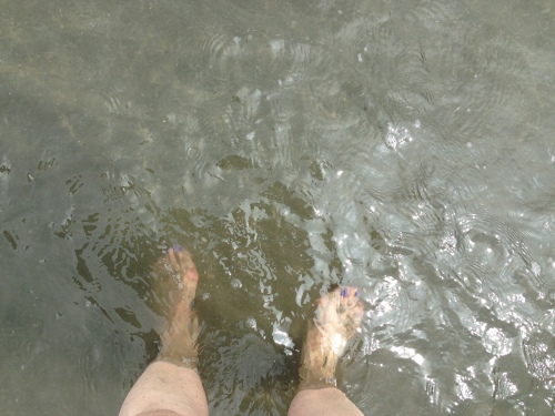 I may be the only person who goes to the Caribbean and doesn't race to the beach…..  I did dip my toes and more and you can see how clean the water is and lukewarm...