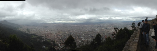 Overlooking Bogota - as you can see a HUGE city.  The skies are overcast and actually quite polluted thanks to diesel fuel