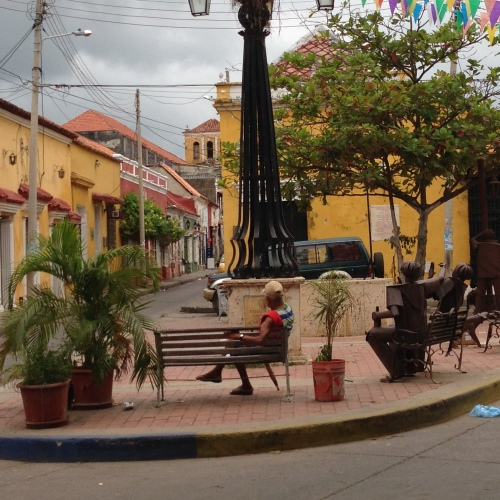 Getsemani square in the early morning