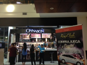 Probably Colombian's drug of choice is sugar like Cinnobon - and of course is found in the local very modern malls