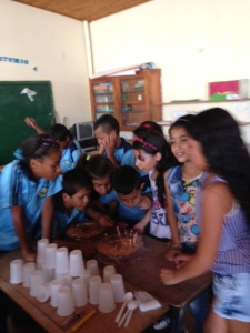 Last day of class at the escuela, kids celebrating a 'group birthday