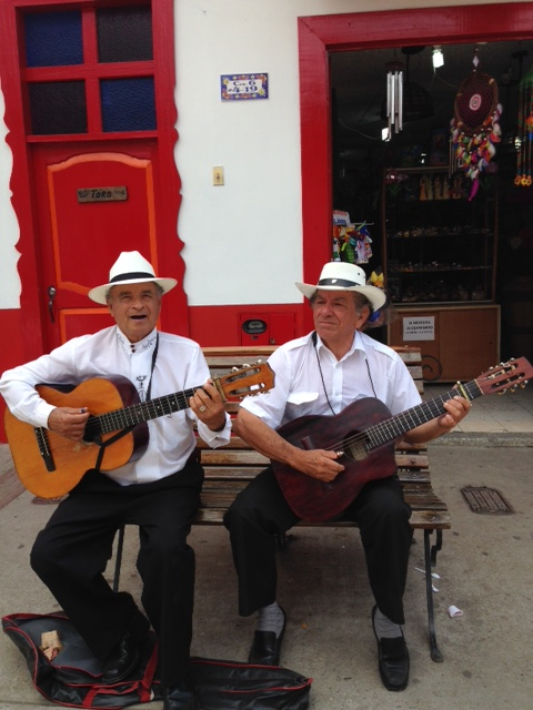 Street musicians on a Sunday afternoon