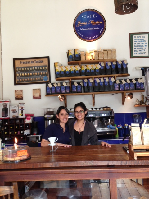Sirani and Stephania, my students in Jesus Martin Cafe